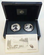 2013 American Eagle Two-coin Silver Set Ogp West Point Us Mint - Bp646