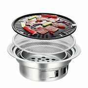 Portable Charcoal Barbecue Grill Nonstick Stainless Steel Korean Bbq Steak Stove