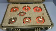 Lot Of 7 Shipman Bolt And Pipe Cleaning Brushes W/pelican Case 1 - 2-1/2