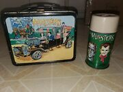 Vintage 1965 The Munsters Metal Lunchbox With Original Thermos, Brace And Lid.