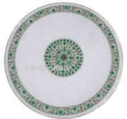 42 Round Marble Dining Table Top Malachite Inlaid Sofa Table For Home Furniture