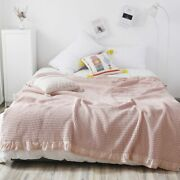 Summer Blankets Plaid Bedding Cover Baby Bedspread Camping Tent Teenager Quilt