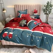 Christmas Baby Bedding Set Euro Quilts Embroidery Cotton Duvet Cover Pillowcase