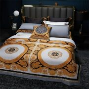 Luxury Egypt Cotton Palace Classic Bedding Set Duvet Cover Soft Smooth Sheet New