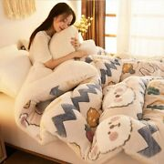 Lamb Double-faced Velvet Wool Quilt Warm Thick Winter Blanket Thick Comforter