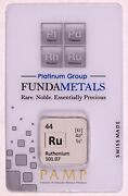 1/2 Oz Ruthenium - Pamp Suisse Bar In Assay Card - Very Limited Mintage - 500