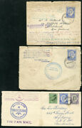 Toga Stamps Lot Of 3 Rare 1937 Tin Can Mail Covers