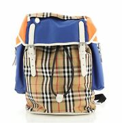 Ranger Backpack Vintage Check Nylon And Leather