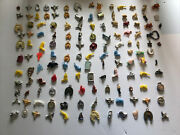 Vintage Plastic Gumball Machine Charms And Cracker Jack Prizes About 138 Pcs.