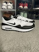 Nike Air Max 1 G Golf Shoes White Black Ci7576-100 Menand039s 9.5 Or Womenand039s 11
