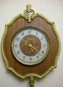 Vintage Old Classic Wall Clock Watch Amber Ussr Wood Wooden Handmade Home Deocr