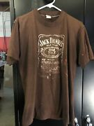 Vintage Jack Daniels Brown T-shirt Size L/xl Tennessee Whiskey