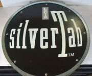 Vintage Levi's Silvertab Jeans 2 Sided Sign Steel Advertising Industrial