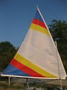 Sail Mast Spars Larger 55 Sf Size- Great For Diy Canoe Raft - Plans Avail