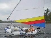 Sail Kit For Voyager 1000 Or Marine Pro Inflatable Raft Boat. Folds To 4 Feet.