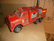 Vintage 1978 Tonka Red Fire Truck Rescue Firetruck Metal And Plastic Rare