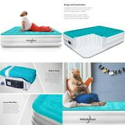 Houseday Queen Air Mattress With Built- Raised Electric Airbed With Built In Pum