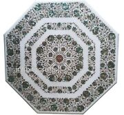 42 Octagon Marble Dining Table Top Inlay Mop Royal Look Coffee Table For Home