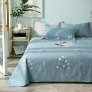 Flower Bed Sheets Twin Queen King Size Bed Lines Multicolor Grids Bed Sheet New