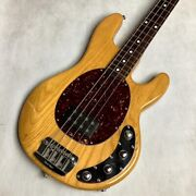 Used 2004 Music Man Sting Ray Natural Active Bass 3-band Eq Player Grade W/ohsc