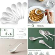 Dowan Asian Soup Spoons, Ceramic Chinese Soup Spoons,white Japanese Spoon For Ra