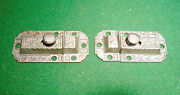 Two Large Matching Vintage Eastlake Cabinet Latches W/ Keepers 9129