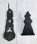 Antique Hanging Receipt Holder Spike Hook Cast Iron Pat Nov 5 1872 And Wall Clamp