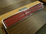 Nos Oem Ford 1975 1976 Granada Deck Tail Panel Fuel Door Trim Cover Lid Red