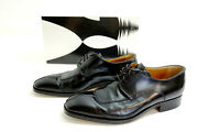 Moreschi Men's Size 9 M Dress Shoes Mirano Black Derby W/ Box Made In Italy