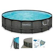 Summer Waves Elite 18ft X 48in Above Ground Frame Pool Set With Pump For Parts