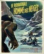 Peter Cushing Forrest Tucker Abominable Snowman Val Guest1957 French Poster18x22