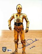 Anthony Daniels Signed Star Wars C3-p0 8x10 Photo Official Pix And Beckett Bas