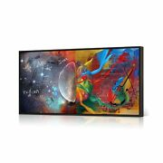 Homeoart Inspirational Wall Art Left And Right Brain Galaxy Pictures Painting...