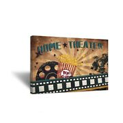 Zlove Large Vintage Old Film Abstract Canvas Wall Art Film Reels Popcorn Film...
