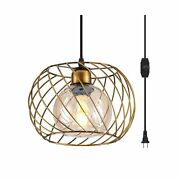 Ylong-zs Hanging Lamps Swag Lights Plug In Pendant Light With On/off Switch W...