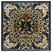 42 Black Marble Dinette Table Marquetry Art Royal Look Coffee Table For Home