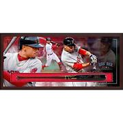 Mookie Betts Boston Red Sox Frmd Signed Victus Game Model Bat Collage Shadowbox