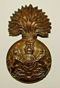 British Military Cap Badge The Royal Scots Fusiliers Large Brass World War One