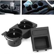 Car Center Console Cup Holder Coin Box Storage Tray For Bmw E46 3 Series 98-05