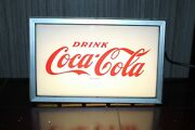 Vintage 1950-60and039s Drink Coca-cola Advertising Light Up Sign Price Brothers Inc.
