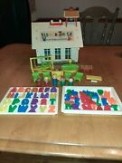 Vintage Fisher Price Little People 923 Play Family School House 95 Complete