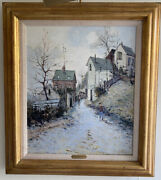 """Vintage Original Oil Painting French Jean Pierre Dubord Impressionist 28"""" X 25"""""""