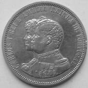 Portugal 1000 Reals 1898 Discovery Of India Silver Edition 2 Ruler Carlos I