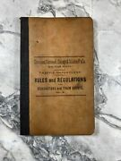 1891 Antique Reference Book Rules And Regulations For Conductors And Train Agents