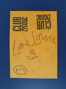 Hand Signed Lene Lovich Gig Ticket Club Zygotic Autograph Post Punk New Wave
