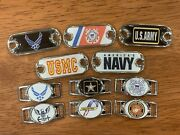 2 Armed Forces - Military Paracord Charms Oval Or Mini Dog Tag Shoelace Charms