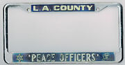 Los Angeles California Peace Officers Sheriff Police Vintage License Plate Frame