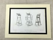 1857 Engraving Print French Church Lectern Book Rest Antique Original
