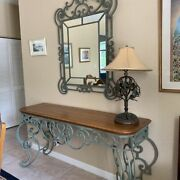 Mint Conditionethan Allen Country French/legacy Entry Table + Entry Mirror