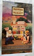 David Frykman Signed Farmers Market Limited Edition Signed 3 Piece Set 1996